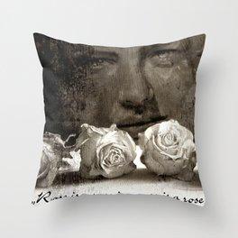 ROSE - vintage version Throw Pillow