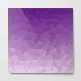 Purple Ombre - Flipped Metal Print