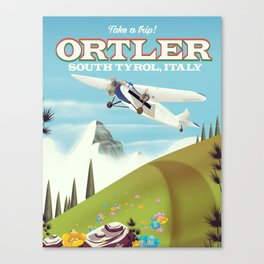 Ortler South Tyrol, Italy travel poster Canvas Print