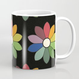 Flower pattern based on James Ward's Chromatic Circle (vintage wash) Coffee Mug