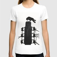 crow T-shirts featuring crow by Bunny Noir