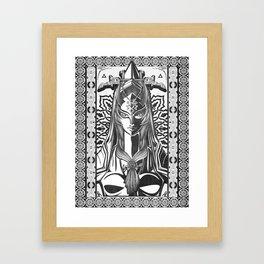 Legend of Zelda Midna the Twilight Princess Line Work Framed Art Print