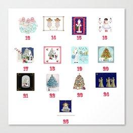 Advent Calendar Day Thirteen to Twenty-Five Canvas Print