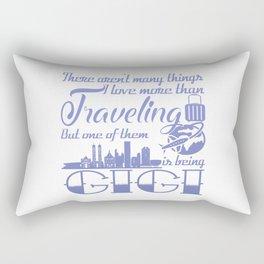 Traveling Gigi Rectangular Pillow