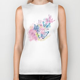 Butterflies in Flight Biker Tank