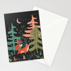 Evergreen Fox Tale Stationery Cards