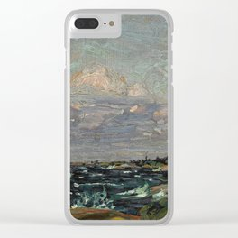 Tom Thomson Windy Day- Rough Weather in the Islands 1914. Canadian Landscape Artist Clear iPhone Case