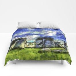 Stonehenge Vincent Van Gogh Comforters