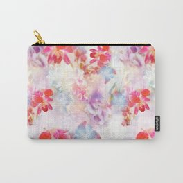 Abstract Photographic Floral Carry-All Pouch