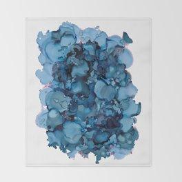 Indigo Abstract Painting   No. 8 Throw Blanket