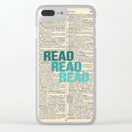 Vintage Dictionary Page - Read Read Read Clear iPhone Case