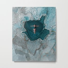 Have you swam in a petrified waterfall? Metal Print