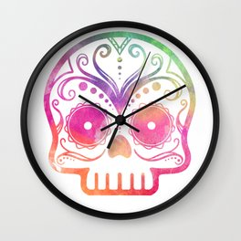 "Custom Design Modern Sugar Skull (""Calavera"") Wall Clock"