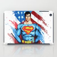 man of steel iPad Cases featuring Man of Steel by Dave Franciosa