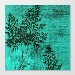 Botanical Turquoise Canvas Print
