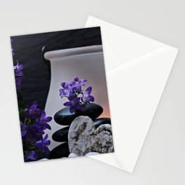 Purple relax Stationery Cards