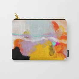 yellow blush abstract Carry-All Pouch