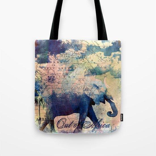 Elephants Journey Tote Bag