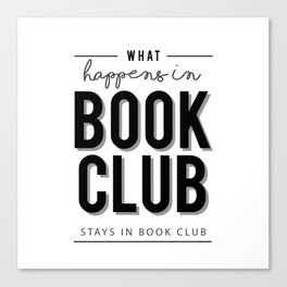 What happens in Book Club Canvas Print