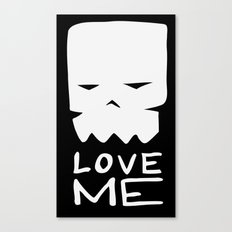 Inverted LOVE ME Canvas Print