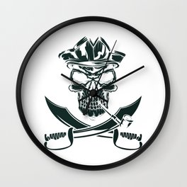 Pirate with Pipe Wall Clock