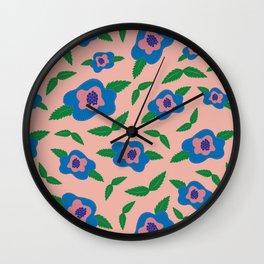 Floral in Rose Quartz Wall Clock