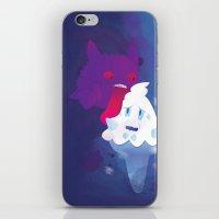 gengar iPhone & iPod Skins featuring Gengar eating ice cream by Alvaro Núñez