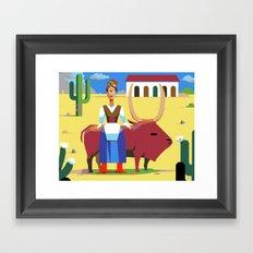 Que Pasa Senorita, I Am El Fugitivo Framed Art Print