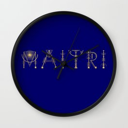 Maitri in Sacred Geometry Alphabet Wall Clock
