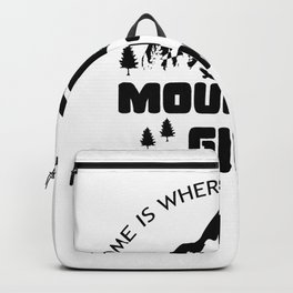 Home Is Where Your Heart Mountain Girl Backpack