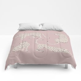 LEOPARD BLOCK PARTY - PINK Comforters