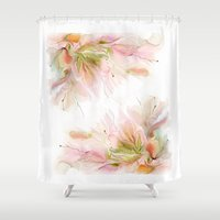 postcard Shower Curtains featuring postcard by tatiana-teni