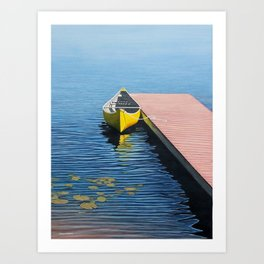 Yellow Canoe Art Print