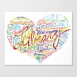 Library Heart Canvas Print