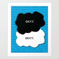 the fault in our stars Art Prints featuring the fault in our stars by lizbee