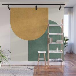 Halfmoon Colorblock 2 - Gold Green  Wall Mural
