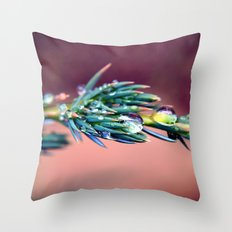 Pine After Rain Throw Pillow