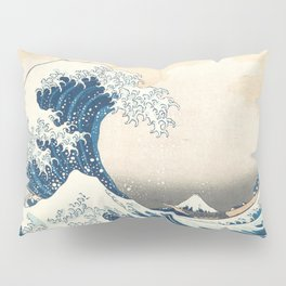 The Great Wave off Kanagawa by Katsushika Hokusai from the series Thirty-six Views of Mount Fuji Pillow Sham