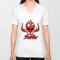 gurren lagann V-neck T-shirts featuring gurren lagann by tama-durden