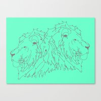 lions Canvas Prints featuring Lions by LIRO