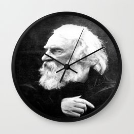 Julia Margaret Cameron - Portrait of Longfellow Wall Clock