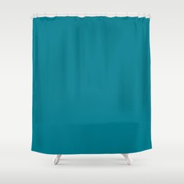 Teal Solid Shower Curtain