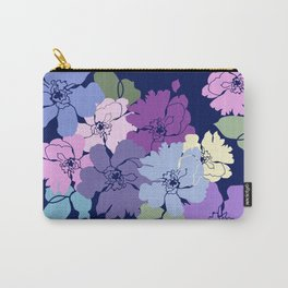 Blue Poppy Toss Carry-All Pouch