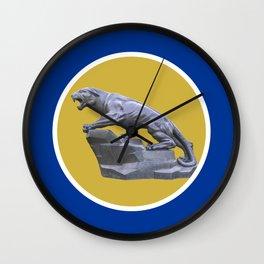 Pittsburgh Gold Circle Panther Print Wall Clock