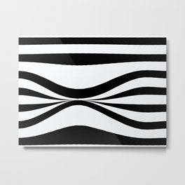 Stripe Bend Metal Print