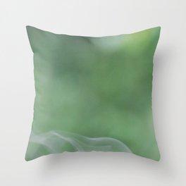 Smoke on Green Throw Pillow