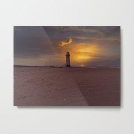 Point of Ayr Lighthouse Metal Print