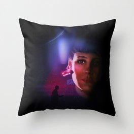 Rachael Blade Runner Poster Throw Pillow