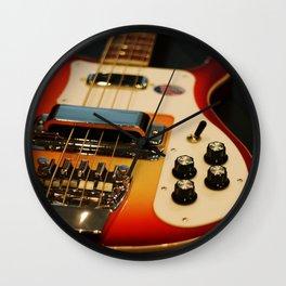 Rickenbacker Bass [flameglow] Wall Clock