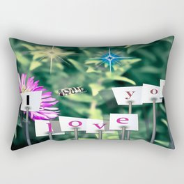 Baby bee love Rectangular Pillow